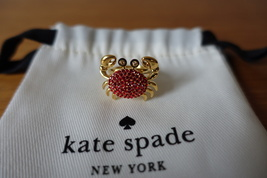 Kate Spade Shore Thing Pave Crab Ring Multicolor. Size 6. New - $42.99