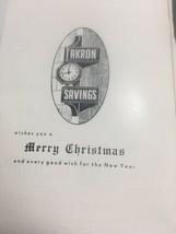 1955 Akron Savings Bank Christmas Carols Songbook Advertising Promo Garr... - $11.25