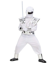 Kids Ghost Mirror Ninja Costume Cosplay Dress Up Small White - $16.82