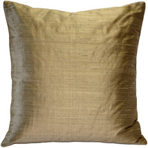Pillow Decor - Sankara Gold Silk Throw Pillow 20x20 (FB1-0001-15-20) - $44.95