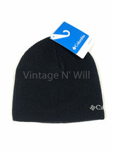 Columbia Black/ Gray Logo Whirlibird Watch Soft Knit Beanie Hat Cap Wint... - €9,24 EUR