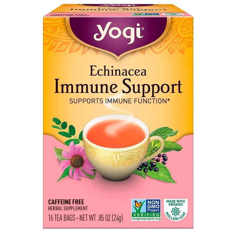 Yogi Tea, Echinacea Immune Support, Caffeine Free, 16 Tea Bags, .85 oz (24 g)