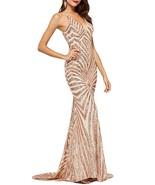 Mermaid Spaghetti Strap Sequins Prom Dress 2019 Long V Neck Formal Eveni... - $129.99