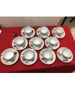 Retired Set 10 Royal Worcester Evesham Gold Porcelain Tea Cup Saucer - $80.00