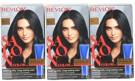 (Pack of 3) Revlon Salon Color #1 Black Booster Kit Luminous Gray Coverage - $29.69