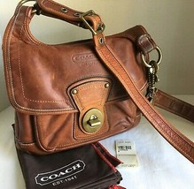 Coach 65th Anniv Legacy Hippie Flap Saddle Crossbody Bag Whiskey Leather... - $321.75