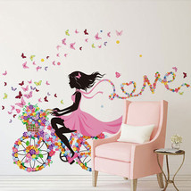 DIY Wall Sticker Kids Room Decoration Butterfly Princess Bike Girl Art Decal Hom - $15.98