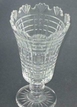 Signed Waterford Hand Cut glass footed vase Irish Crystal - $129.62