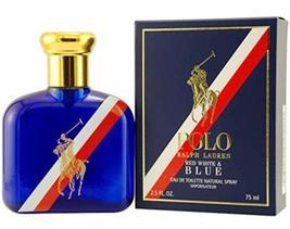 Polo Red White and Blue by Ralph Lauren, Eau De Toilette Spray, 2.5 Ounces - $82.00