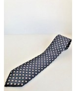 Men's ties by Lilly Dache navy with filled diamond small print all silk ... - $9.49