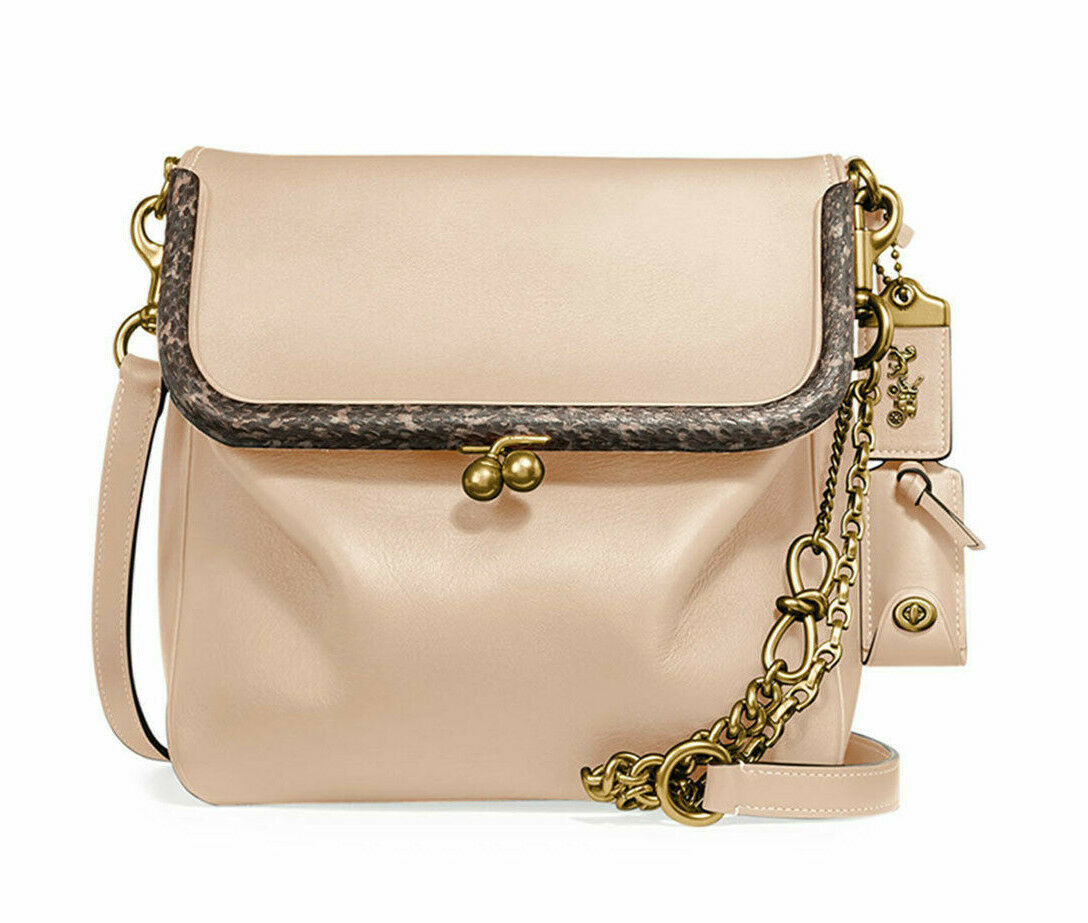 Coach 1941 Exotic Details Snakeskin Rider Bag 24 Leather Crossobdy ~NWT~ 75501