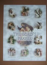 "Catholic Print Picture OUR FATHER Lord's Prayer Classroom poster 12x16"" - $14.95"