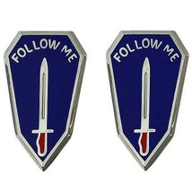 Genuine U.S Army Crest: Infantry Center And Infantry School - Follow Me - $17.80