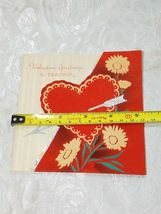 """OLD VINTAGE """"VALENTINE GREETINGS TO TEACHER"""" VALENTINE'S DAY CARD, GOOD COLOR! image 6"""