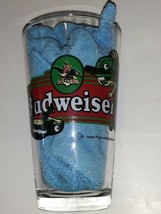 Vintage Lizards King of Beers Budweiser Glass 1997 Retro Style Thick Bar ware - $8.90