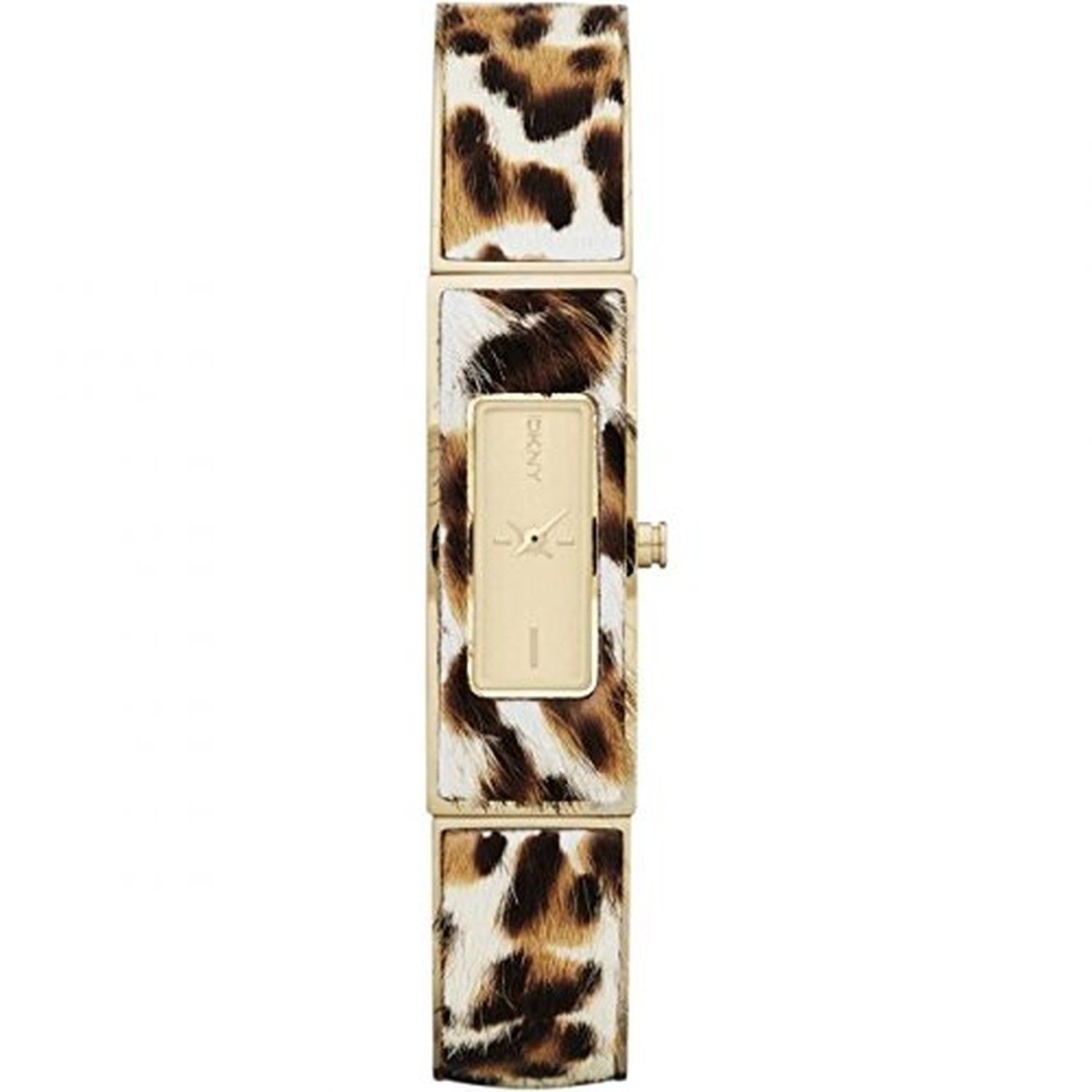 DKNY Astoria Faux Leopard Steel Bangle Women's watch NY8883