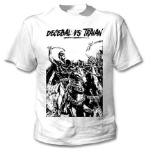Decebai Vs Traian - New Cotton White Tshirt - $19.53