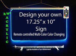 "Personalized LED Sign-Design your own Sign,  17.25"" x 10"" Multi-Color Ch... - $142.00"