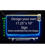"""Personalized LED Sign-Design your own Sign,  17.25"""" x 10"""" Multi-Color Ch... - $142.00"""