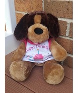 Build a Bear Brown Dog Plush Happy Birthday Shirt Singing - $17.50