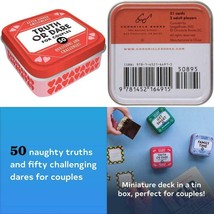 TRUTH OR DARE CARD GAME FOR COUPLES 50 QUESTIONS CHALLENGES VALENTINE'S ... - $9.50