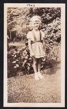 Antique Vintage Photograph Adorable Little Girl Standing in the Garden - $5.94