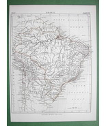 1878 ORIGINAL MAP - Brazil South America - $9.45