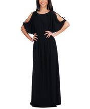 Women Split Sleeves Elegant Ruched Cocktail Long Maxi Dress  - $29.99