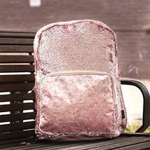 Style.Lab Fashion Angels Backpack-Pink Glitter/Velvet Pocket Magic Sequin Back P image 7