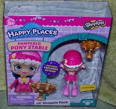 Shopkins Happy Places JESSICAKE Pampered Pony Stable Lil' Shopper Pk New - $10.88