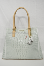 NWD Brahmin Joan Tote/Shoulder Bag in Sea Glass Tri-Texture Leather - $239.00