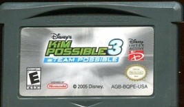 Disney's Kim Possible 3: Team Possible  (Nintendo GBA, 2005) w/Instructions - $2.96
