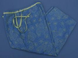 Talbots Piccoli Stretch 8 P Pantaloni Capri Blu con / Ananas Corto Zip Laterale - $21.50