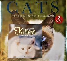 2020 Calendar Cats Kittens 2 Pack 12 Month New Sealed Wall & Mini Quick ... - $12.19