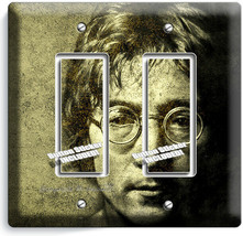 JOHN LENON THE BEATLES 2 GFCI LIGHT SWITCH WALL PLATE MUSIC STUDIO ROOM ... - $12.99