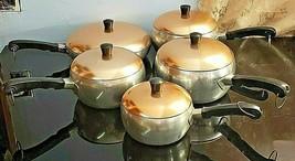 "Vintage Hallite Wear-Ever 7"" Aluminum Pan with Copper Lid - Set - $93.49"