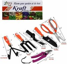 Seeds 6 in 1 Garden Tool Set Gardening Tools Gift Kit Non-Slip Handle fr... - £19.63 GBP