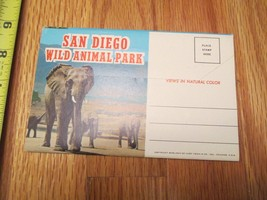 San Diego Wild Animal Park California CA travel Souvenir Folder Postcard  - $1.99