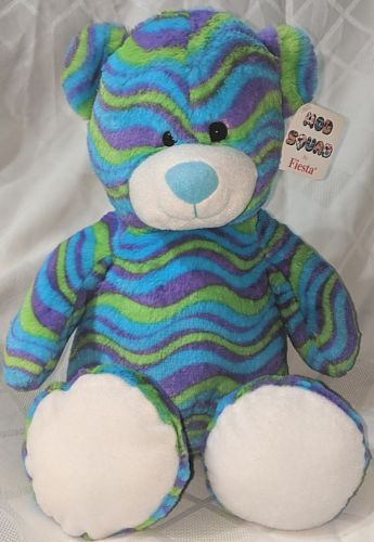 Fiesta A49893 Mod Squad 18 inch Multi Colored Waves Cuddle Bears