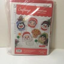 Christmas Lollipop Covers Plastic Canvas Kit Craftways Set of 6  - $19.34