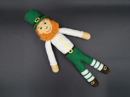 Handmade crochet leprechaun Irish stuff doll knit leprekon toy St Patric... - $23.40