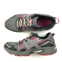 Asics Gel Venture 4 Womens Size 9.5 Running Shoes Gray Pink Sneakers Mid... - $21.63