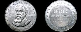 1968 Shell Oil Presidential Game Token - Benjamin Harrison - $1.99