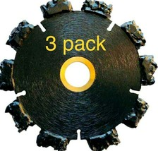 """3 pk 7"""" Fire Rescue Root Cutter Carbide tipped Demolition Blade x .250  - $371.25"""