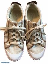COACH Logo Sneakers Ivory/White Ladies US Size 8 - $29.69