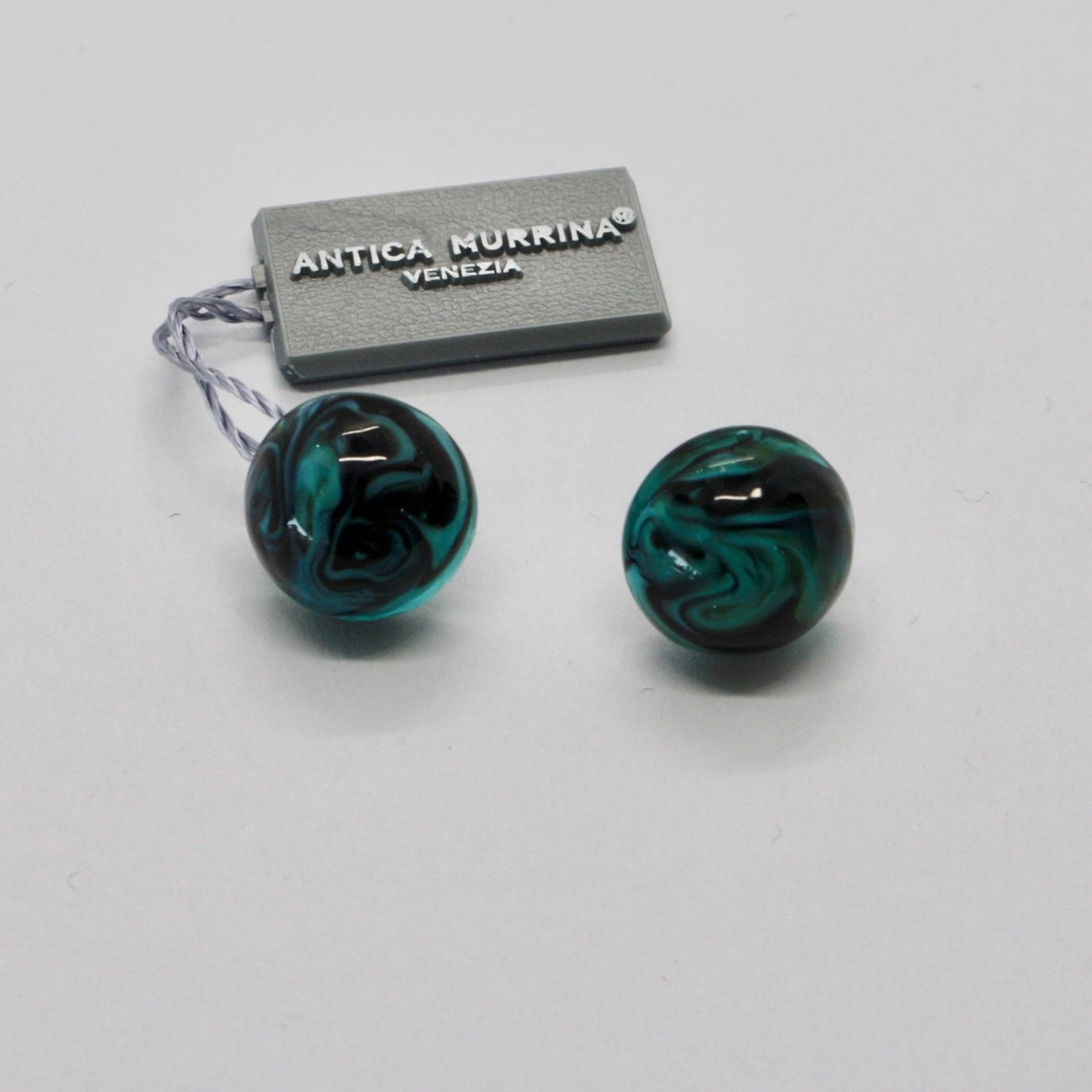 ANTICA MURRINA VENEZIA EARRINGS WITH MULTICOLOR MURANO GLASS AND STEEL OR593A59