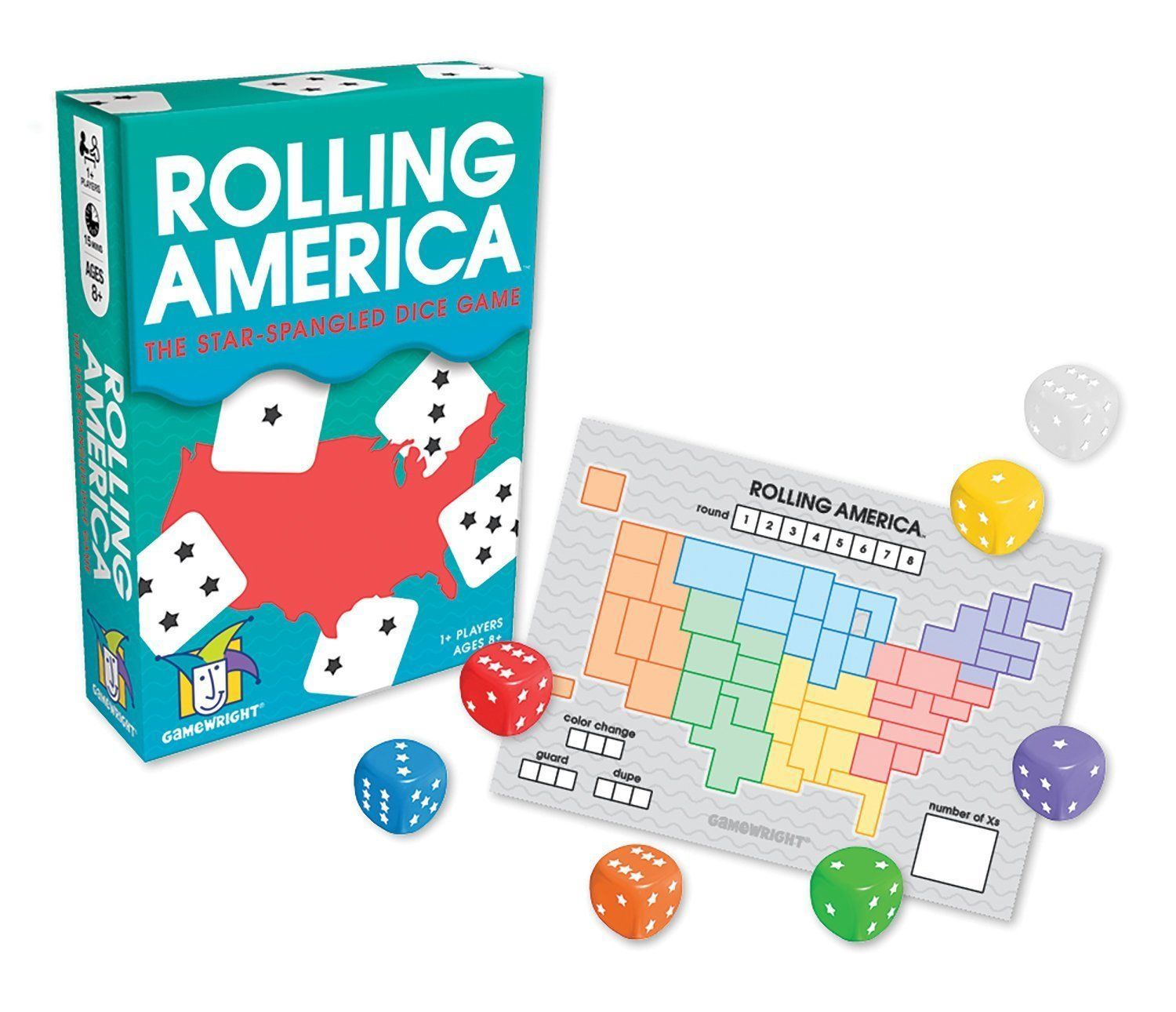 Rolling America, The Star Spangled Dice Action Board Game [New]