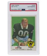 Jim Otto Oakland   Signed 1969 Topps #163 Slabbed Card PSA/DNA - $98.99