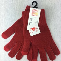 Uniqlo Heat Tech Red Gloves Touch Ops Screen Compatible Unisex Size Larg... - $14.73 CAD