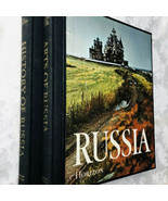 Russia 2 Book Set History Of Russia - Arts Of Russia Hardbacks in Case -... - $24.50